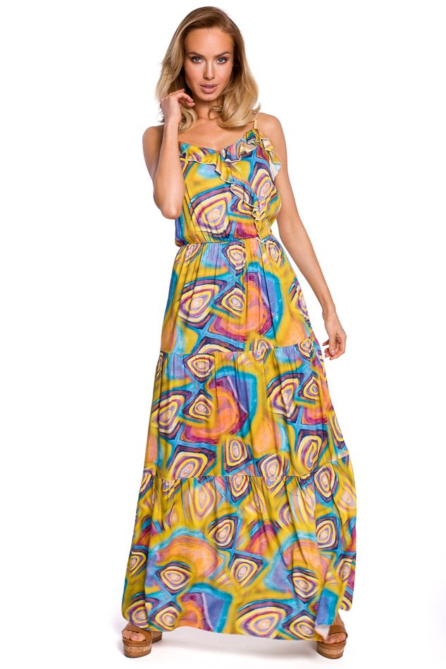 Mulitcolor Yellow Maxi Dress