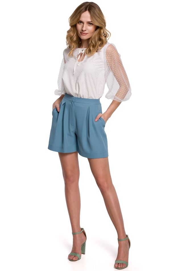 Relaxed Shorts in Sky Blue