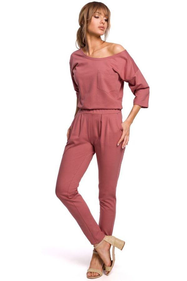 Dolman Sleeve Jumpsuit in Indian Rose